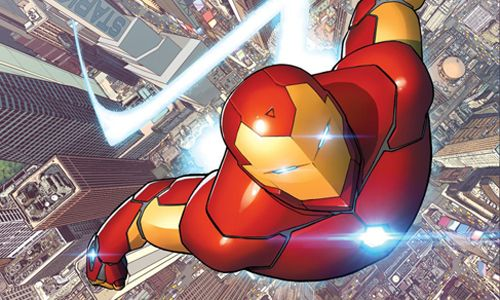 """Iron Man #62 a 70"" (Brian Michael Bendis, David Marquez y Mike Deodato Jr, Panini Cómics)"